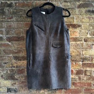 MM6 suede leather mini dress